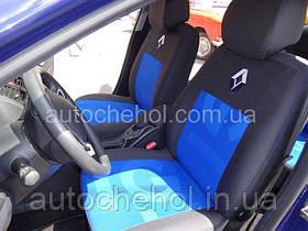 -черные авточехлы на сиденья Renault Megane 3, Елагант