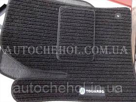 Черные текстильные коврики с высоким ворсом на volkswagen Toureg 2