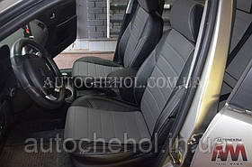 Черные чехлы на сиденья Ford Mondeo 2000 - 2007, авточехлы форд мондео 2000, AM-X, automania