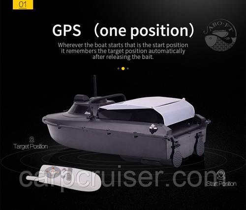 JABO-2AD20А-GPS-F7 кораблик для прикормки с GPS функцией автовозврат и эхолот Lucky FFW718