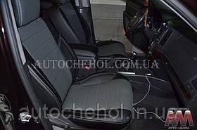 Чорні чохли на сидіння Hyundai Santafe II, авточохли сантафе, AM-X, automania