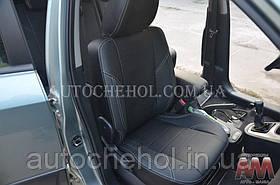 Черные чехлы на сиденья Kia Sportage, авточехлы спортаге, AM-X, automania