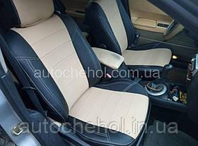 Черные чехлы на сиденья Renault Megane 2, авточехлы рено меган, AM-X, automania