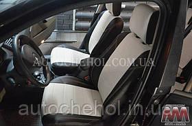 Черные чехлы на сиденья Renault Megane 2003, авточехлы рено меган 2003 40/60 спинка, AM-X, automania