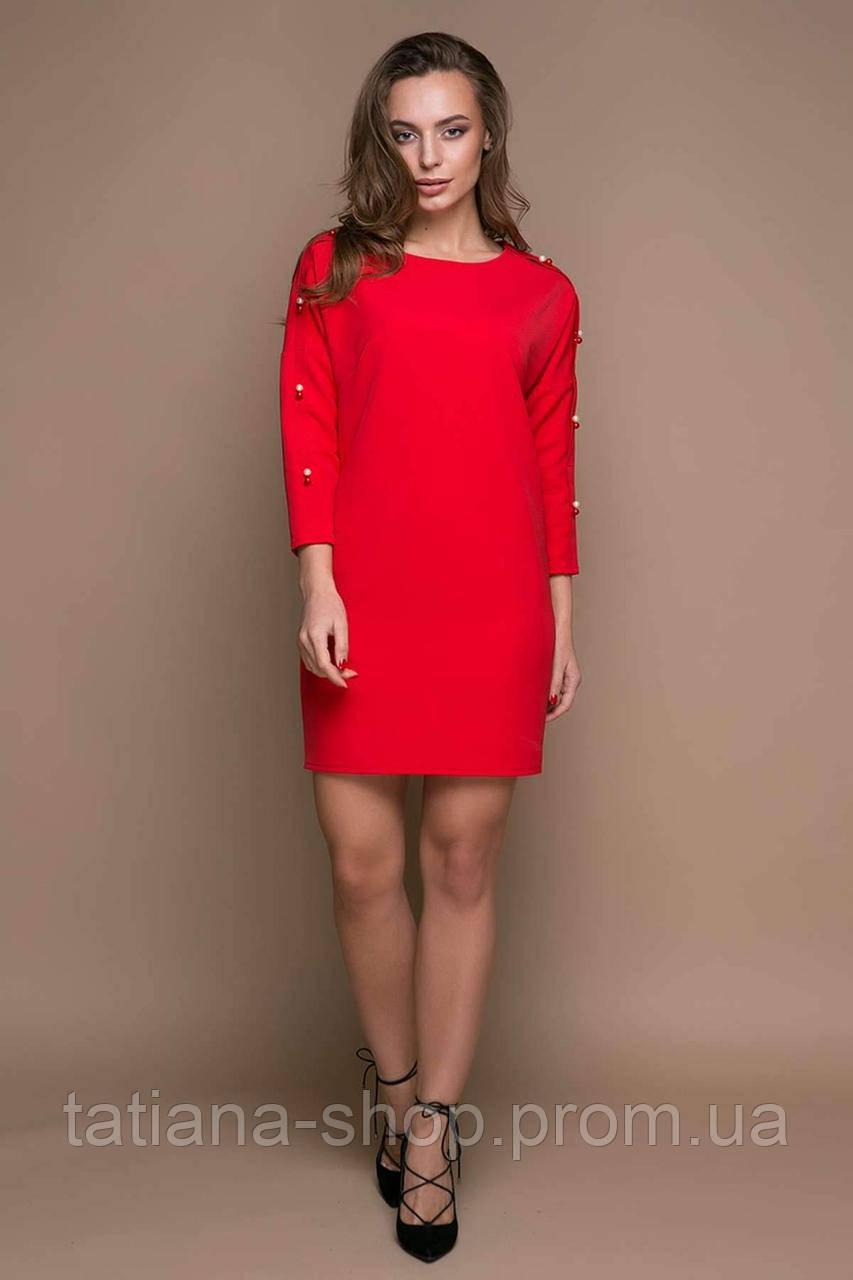 554b16199fb Прямое платье с заниженной проймой ZARA красное - купить по лучшей ...