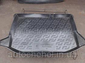 Черный качественный коврик в багажник FORD Fiesta 2008