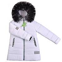 Модную теплую зимнюю куртку для девочки от производителя недорого в Украине, фото 1