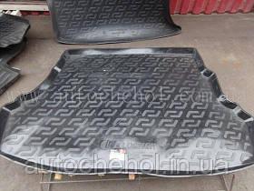 Черный качественный коврик в багажник Hyndai Accent Solaris