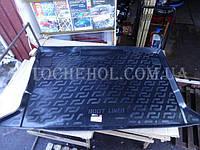 Черный качественный коврик в багажник Renault Kangoo 2008