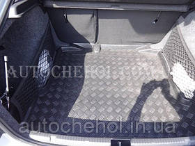 Черный качественный коврик в багажник Skoda Rapid, autogumm