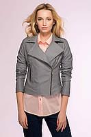 Куртка-косуха из искусственной кожи LOOKER серая, фото 1