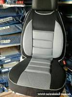 Чехлы майки на автомобильные сиденья - майка черно-серый