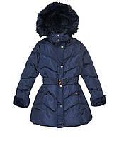 Удлиненные  зимние куртки для девочки F&D Венгрия