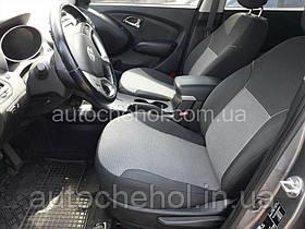 Чехлы на сиденья Hyundai IX35, автоткань, АвтоМир