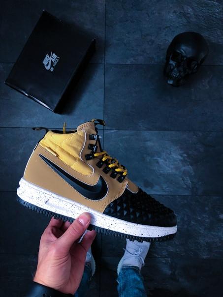 761d761e Мужские кроссовки Nike Lunar Force 1 Duckboot '17 Gold/Black топ реплика -  Интернет