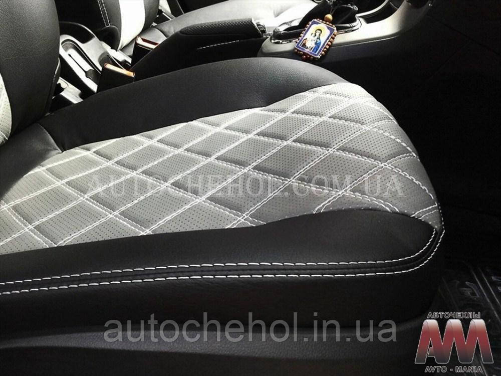 Чехлы на сиденья Toyota Tundra 3 места, авточехлы на тундру эко кожа, AM-R, automania