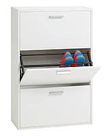 Шкаф для обуви белый с 3-мя отделениями