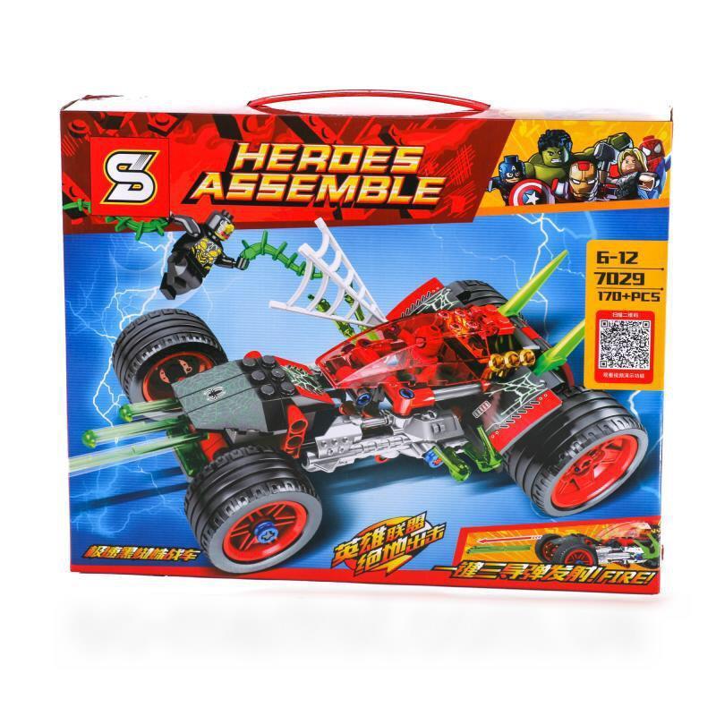 """Конструктор SY7029 """"Автомобиль человека паука"""" 170 деталей (Аналог Lego Super Heroes)"""