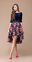 Платье Svetlana Style-1141 белорусский трикотаж, синий, 44