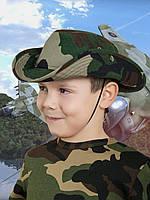 Панама детская для мальчиков камуфляж Лес