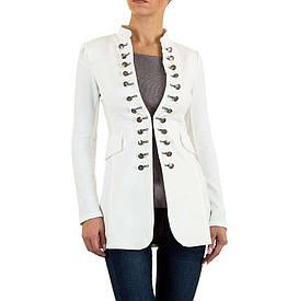 Пиджак женский в стиле милитари от Voyelles (Европа), Белый