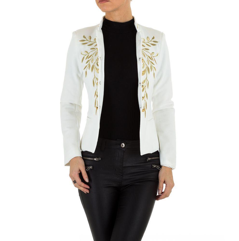 Пиджак женский с золотой вышивкой (Европа), Белый