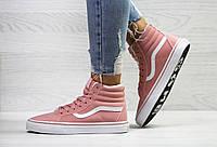 Кроссовки VANS ,женские розовые кроссовки,теплые кроссовки. ТОП качество!!!  Реплика, фото 1