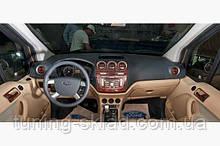 Накладки на торпеду (великий комплект) Ford Connect 2010-2014 (декор панелі Форд Коннект)