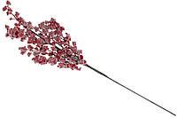 Декоративная ветка с декором из красных ягод с росой 60см (734-508)