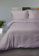 Постельное белье Lotus Сатин Страйп лиловое 1*1 евро размер (Турция)