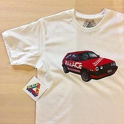 Palace volkswagen футболка мужская Бирки печатные Фото оригинал
