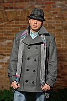Пальто мужское №М-200К серый