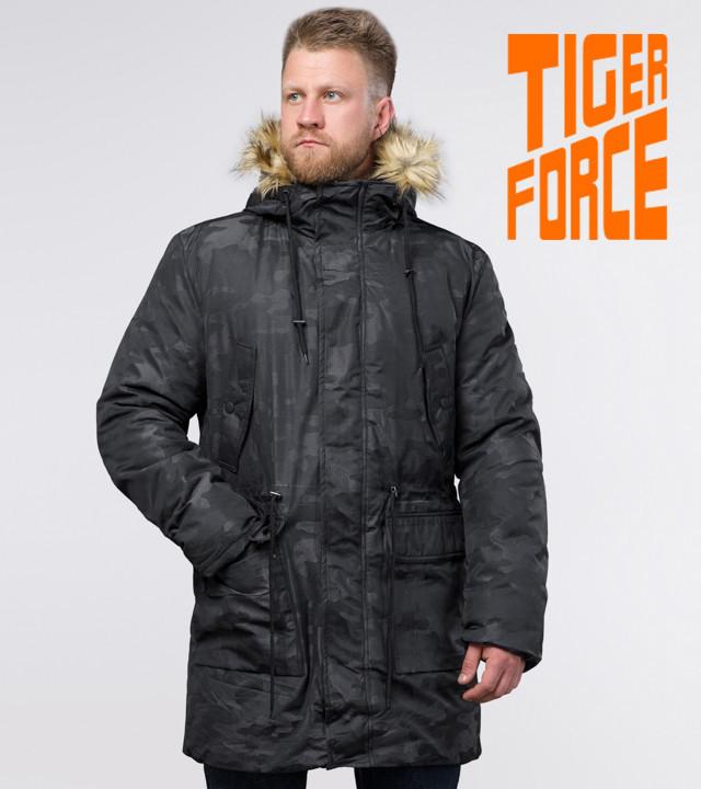 Tiger Force 72315 | Зимняя мужская парка черная