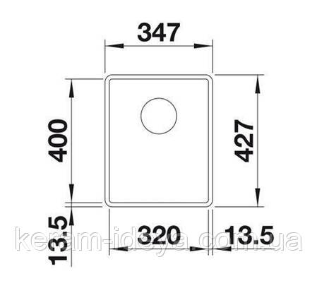 Кухонная мойка Blanco Subline 320-F алюметаллик 523418, фото 2