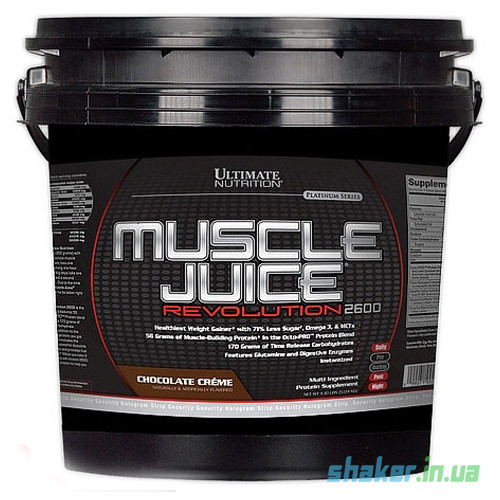 Гейнер для набора массы Ultimate Nutrition Muscle Juice Revolution (5 кг) ультимейт масл джус strawberry
