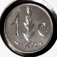 Монета Монако 1 сантим 1995 г. UNC из набора
