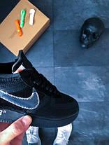 Мужские кроссовки Nike x Off-White Air Force 1 Low Black топ реплика, фото 2