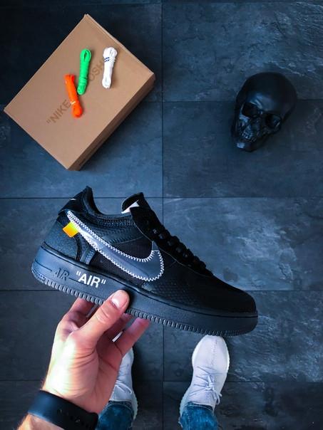 Мужские кроссовки Nike x Off-White Air Force 1 Low Black топ реплика