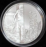 """Серебряная монета Австрии 20 евро 2014 г. 25-летие падения """"железного занавеса"""" Пруф"""