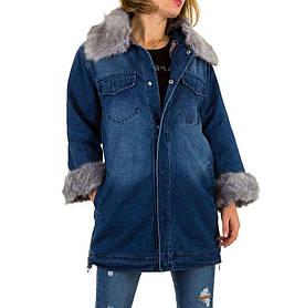 Джинсовая куртка с мехом внутри (Европа), Синий