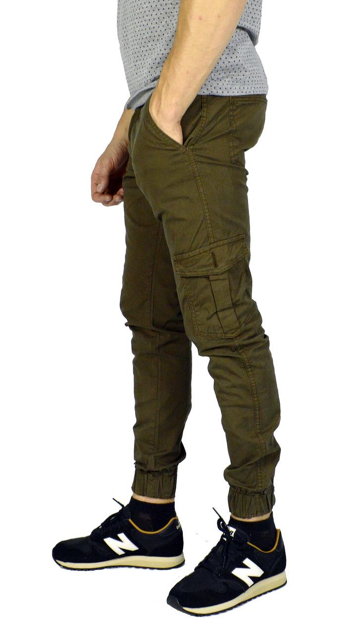 Мужские джинсы с манжетами TRIPTONIK цвета хаки