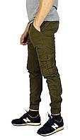 Мужские джинсы с манжетами TRIPTONIK цвета хаки, фото 1
