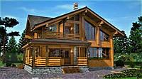 Деревянный дом из профилированного клееного бруса 13х11 м, фото 1
