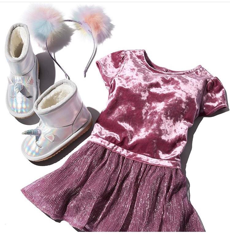 Шикарное велюровое платье Childrens Place нарядное на 3, 4, 5 лет  3Т