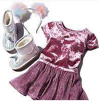 Шикарное велюровое платье Childrens Place нарядное на 3, 4, 5 лет