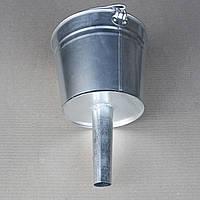 Лейка ведро для бензина, саляры (с фильтрующей сеточкой) прямая 5 литров