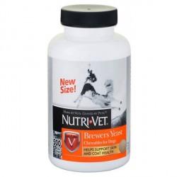Nutri-Vet Brewers Yeast  витаминный комплекс для шерсти собак, жеват таб, 300 табл.