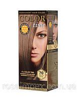 Стойкая краска для волос Color Time тон 70 Темно-пепельный