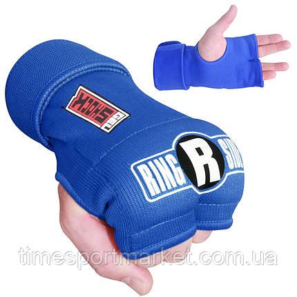 Быстрые бинты RINGSIDE GEL SHOCK QUICK BOXING HAND WRAP - BLUE, фото 2