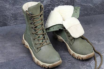 Армейские ботинки,зимние берцы нубук,темно зеленые, фото 2